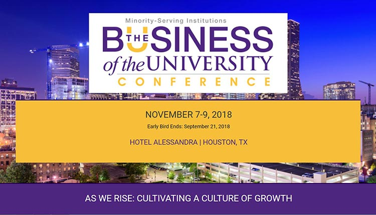 The Busienss of the University Conference, November 7-9, 2018 in Houston, TX